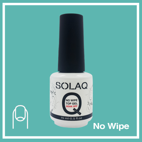 SOLAQ - Polish Gel Top Coat Non Wipe 15ml