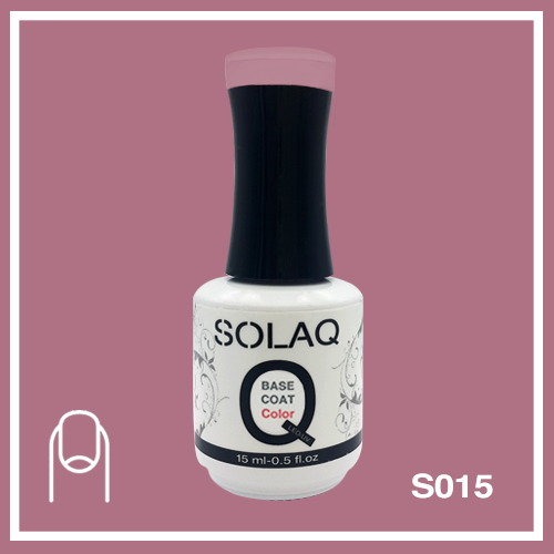 SOLAQ - SB015 - Polish Gel Base Coat with Colour 15ml