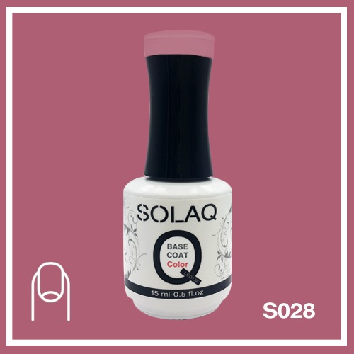 SOLAQ - SB028 - Polish Gel Base Coat with Colour 15ml