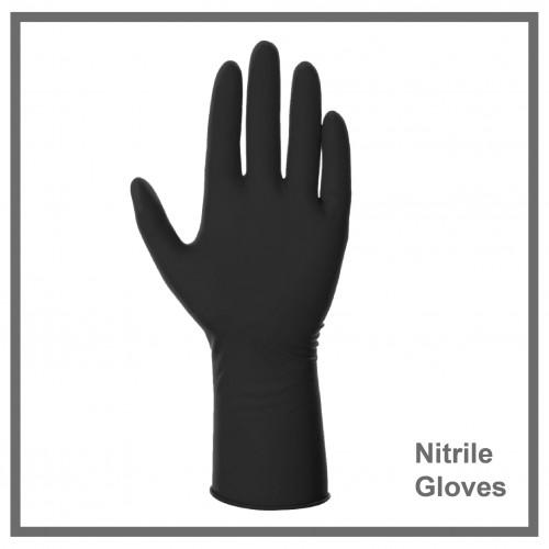 Γάντια Νιτριλίου Μαύρα  100τεμ.