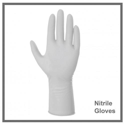Γάντια Νιτριλίου Λευκά  100τεμ.
