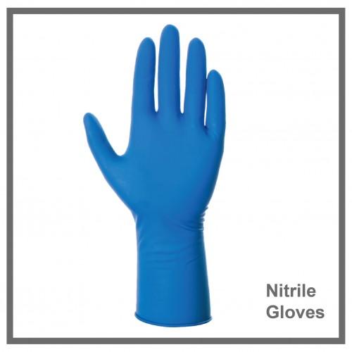 Γάντια Νιτριλίου Μπλέ  100τεμ.