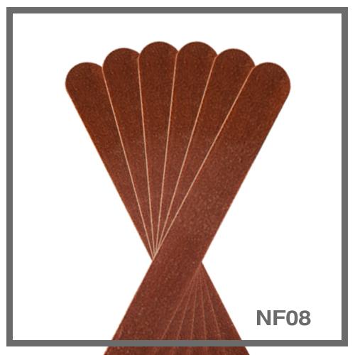 Λίμα για φυσικό νύχι NF08 - ίσια (πακέτο 6 τμχ)