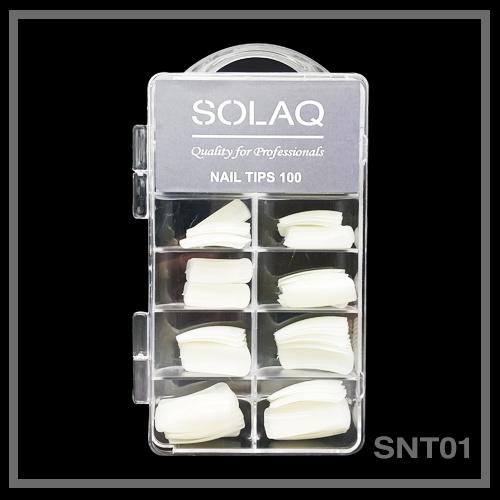 SOLAQ - Tips νυχιών με εγκοπή (100 τεμ)