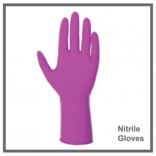 Γάντια Νιτριλίου Ροζ  100τεμ.